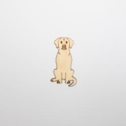 ξύλινος σκύλος για στολισμούς