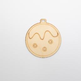 ξύλινη μπάλα κατάλληλη για στολισμούς