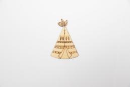 ξύλινη σκηνή ινδιάνου για στολισμούς