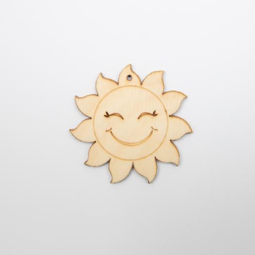 ξύλινος ήλιος για στολισμό