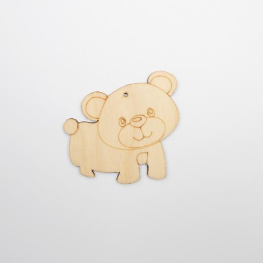 ξύλινο αρκουδάκι για στολισμούς