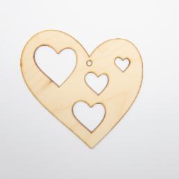 ξύλινη καρδιά για στολισμούς