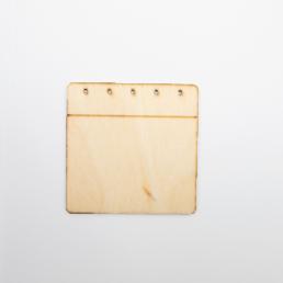 ξύλινο ημερολόγιο για στολισμούς